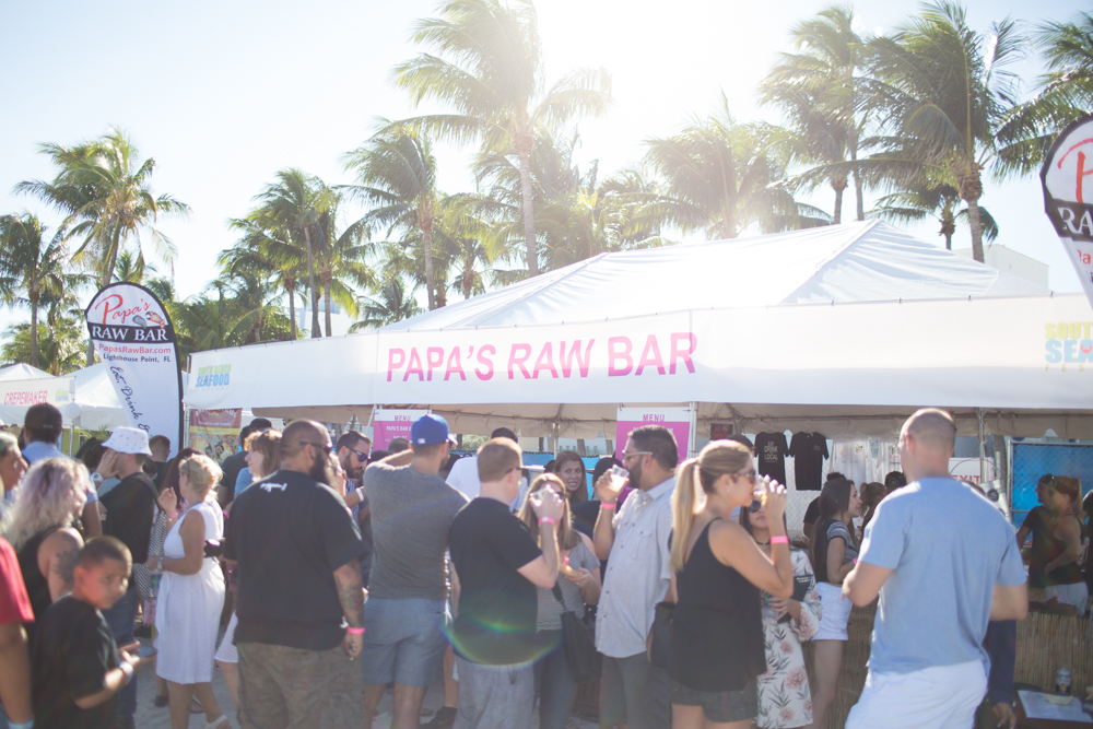 sobe seafood fest papas raw bar